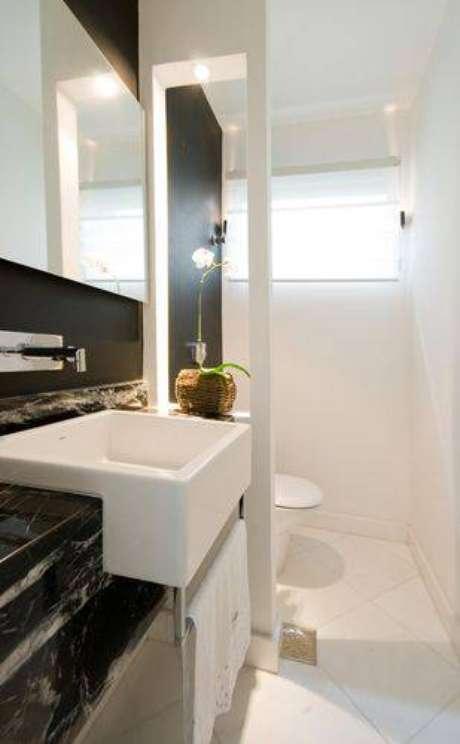 25. Os lavabos também merecem atenção e cuidado para serem como banheiros modernos