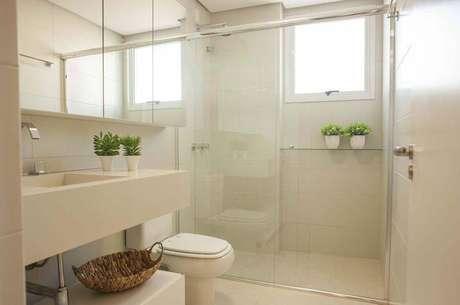27. Não abra mão de plantas em seu banheiro