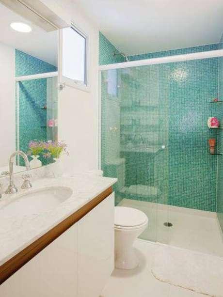 6. A área do box merece mais destaque nos banheiros modernos