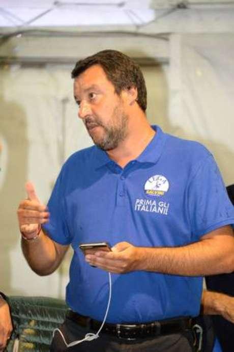 O ministro Matteo Salvini pode responder na Justiça pelo caso do navio Diciotti
