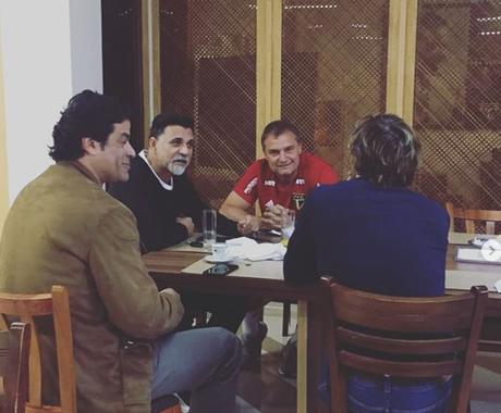 Aguirre tem uma boa relação com Ricardo Rocha, Lugano e Raí no São Paulo (Reprodução/ Instagram)
