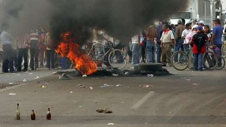 O protesto de 2006 ficou conhecido pela forte repressão policial e confrontos