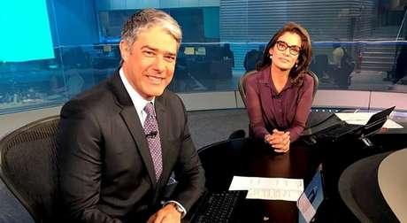 Bonner e Renata na bancada do 'JN': Globo nega ser privilegiada em relação à verba publicitária federal