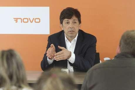 O candidato do Partido Novo à Presidência, João Dionísio Amoêdo