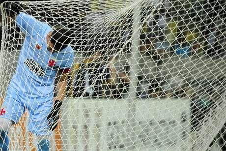 Martín Silva foi buscar a bola nas redes da meta vascaína três vezes no Marcanã