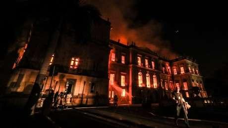 Incêndio destruiu parte do acervo do Museu Nacional