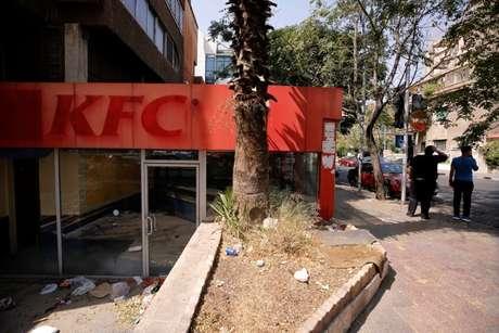 Restaurente KFC fechado em Damasco 01/09/2018 REUTERS/Omar Sanadiki