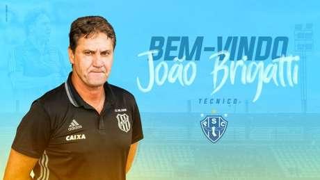 João Brigatti é anunciado como novo técnico do Paysandu