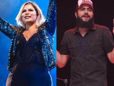 Marília Mendonça cantou com Henrique, dupla de Juliano, e fãs pediram beijo na noite desta segunda-feira, 3 de setembro de 2018