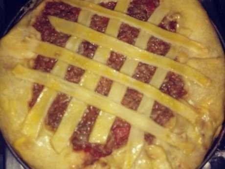 Torta de carne com purê