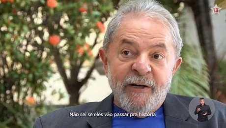 Lula, durante o programa eleitoral do PT para as eleições 2018