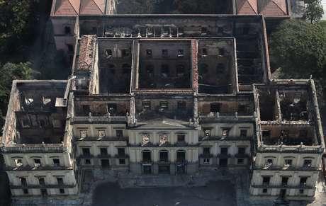 Vista aérea do Museu Nacional no Rio de Janeiro  3/9/2018    REUTERS/Ricardo Moraes
