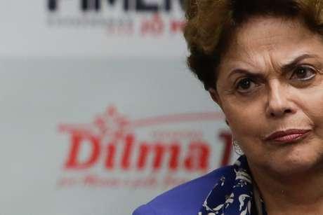 Dilma Rousseff, candidata ao Senado pelo PT, durante coletiva em Belo Horizonte (MG), no dia 29 de agosto de 2018