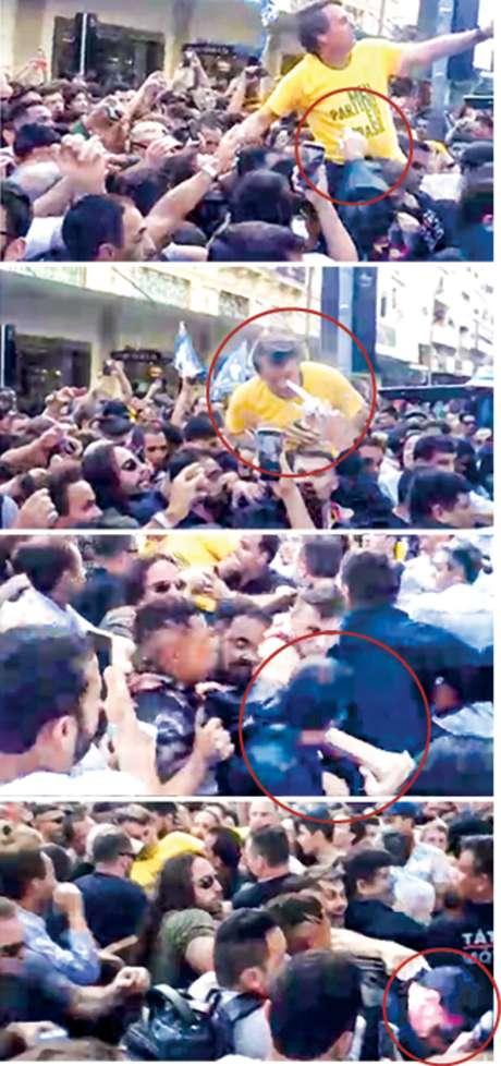 Sequência mostra o momento em que Bolsonaro é atacado