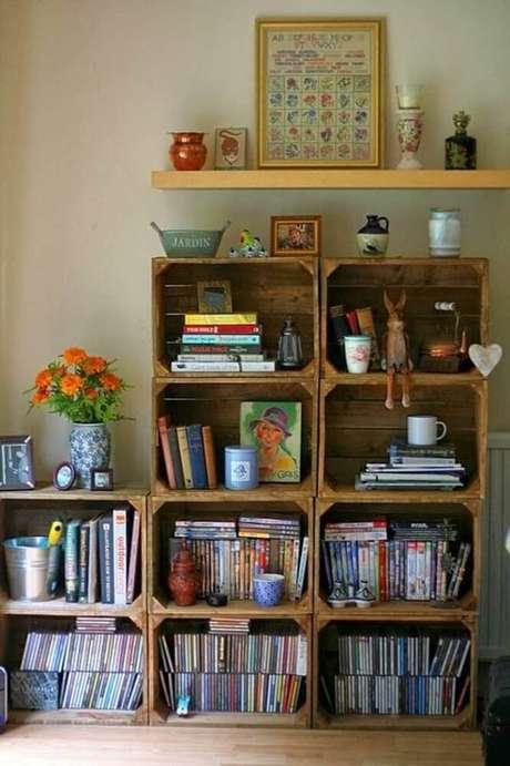 11. Tenha um espaço reservado para organizar os livros do cantinho de leitura – Foto: Pinterest