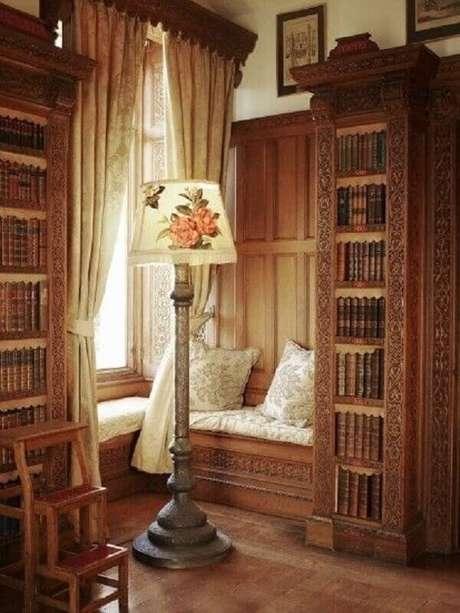 16. Cantinho da leitura com decoração provençal – Foto: Pinterest