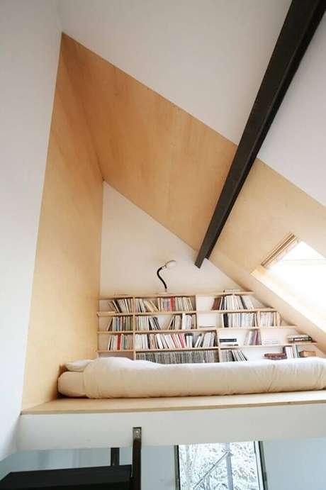 38. Projeto moderno e aconchegante de cantinho de leitura com claraboia – Foto: HNstyle