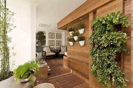 34 – Plantas ornamentais na decoração de apartamento.