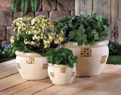 26- Vasos de plantas decorativos.