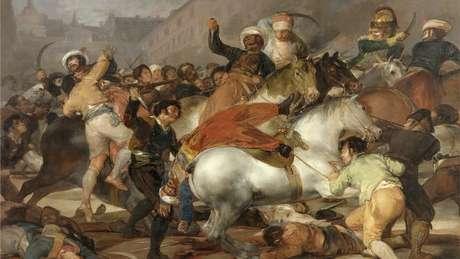 Levantamento de 2 de maio, ocorrido em 1808 em Madri, e duramente reprimido foi o estopim para Guerra de Independência Espanhola