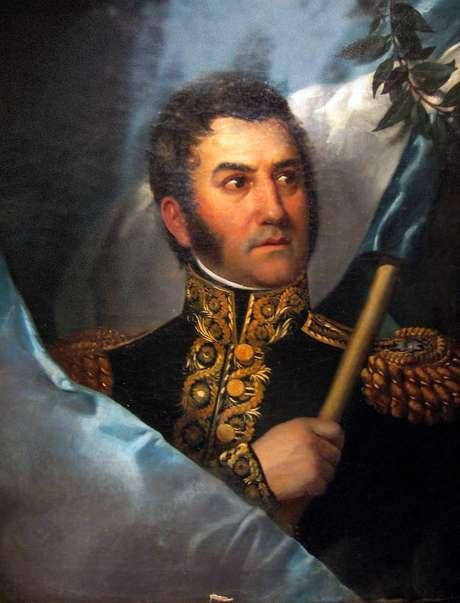 Argentino José de San Martín é também conhecido como o libertador de Argentina, Chile e Peru