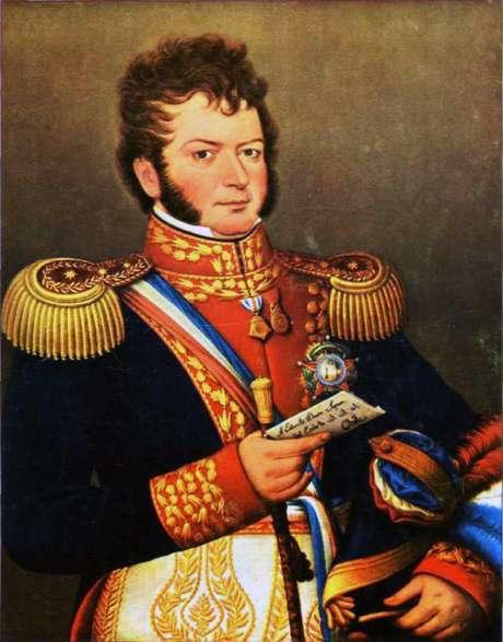 Militar e estadista, Bernardo O'Higgins foi uma das principais figuras militares fundamentais do movimento de independência do Chile