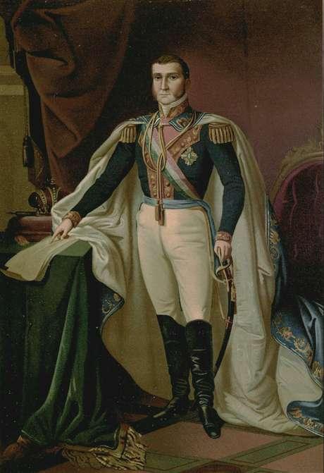 Agustín de Iturbide foi declarado imperador do México como Agustín I após independência da Espanha