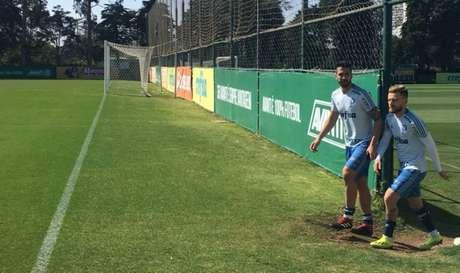 Luan e Lucas Lima devem ser titulares do Palmeiras no clássico de domingo, contra o Corinthians, no Allianz