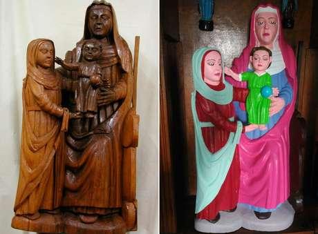 Antes e depois da restauração