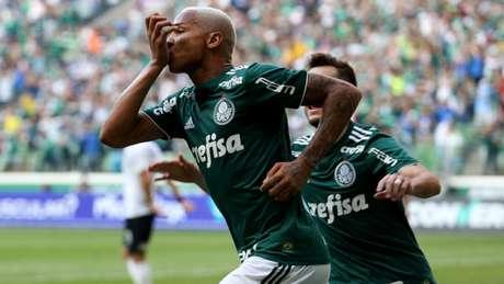 Deyverson comemora o gol da vitória palmeirense no Allianz (Foto: Luis Moura/WPP)