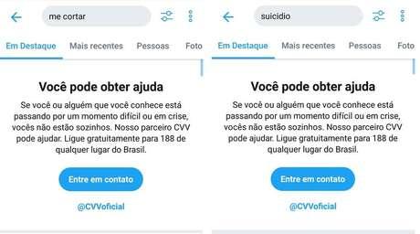 Twitter tem novo serviço para ajudar na prevenção do suicídio.