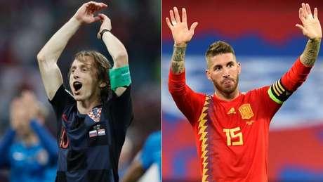 Companheiros de Real Madrid, Modric e Sergio Ramos se enfrentam nesta terça-feira (Foto: AFP)