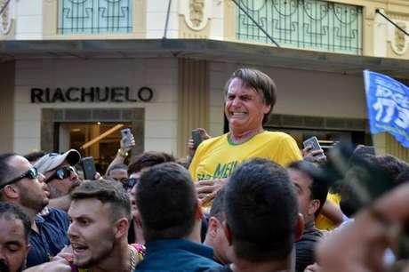 Jair Bolsonaro foi alvo de facada em Juiz de Fora, durante a campanha presidencial