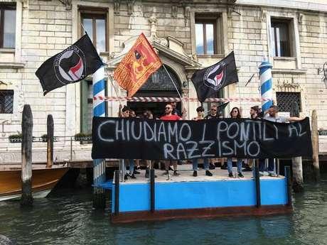 Manifestação contra o racismo em Veneza, na Itália