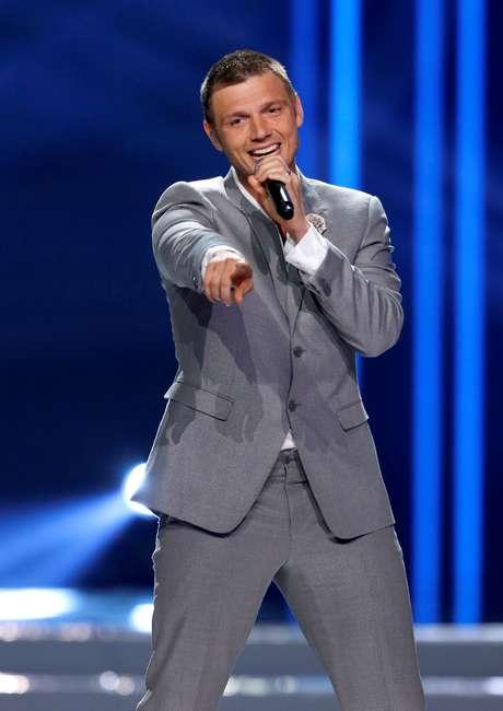 Nick Carter durante show dos Backstreet Boys em Las Vegas