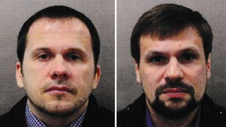 Alexander Petrov e Ruslan Boshirov são suspeitos de ter usado o agente nervoso Novichok para envenenar ex-espião e a filha
