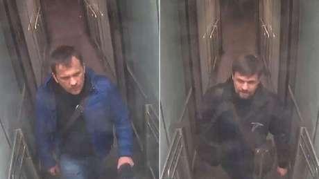 Imagens do circuito de segurança mostram os dois suspeitos no aeroporto de Gatwick