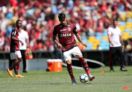Lucas Paquetá em campo pelo Flamengo