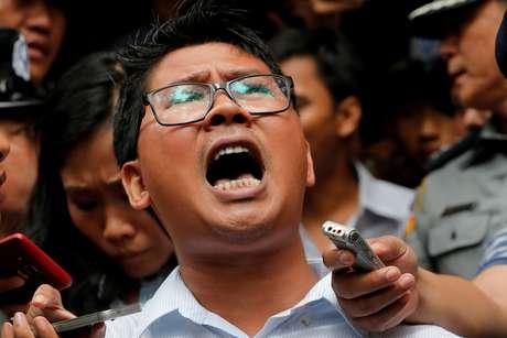 Jornalista da Reuters Wa Lone deixa tribunal em Yangon após receber veredicto 03/09/2018 REUTERS/Myat Thu Kyaw