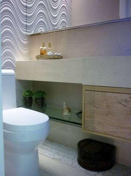 2. O banheiro é um dos lugares mais procurados quando se trata de pisos e revestimentos. Projeto por Andrea del Monaco.