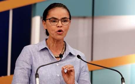 Candidata da Rede à Presidência, Marina Silva, durante debate televisionado em São Paulo 09/09/2018 REUTERS/Nacho Doce