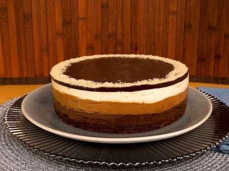 Torta 3 mousses de chocolate