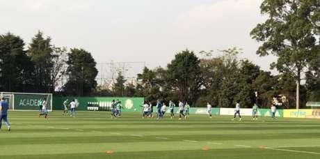 Treino do Palmeiras nesta quinta-feira, na Academia de Futebol (Foto: Thiago Ferri)