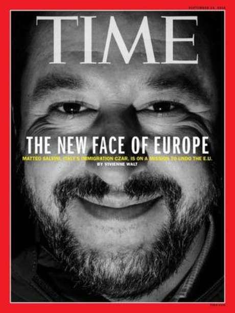 Capa da revista 'Time' com Matteo Salvini