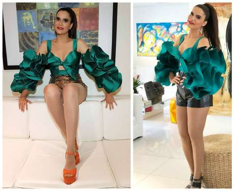 Gilmelandia com figurino para shows em Dubai e em Salvador (Foto: Reprodução/Instagram)