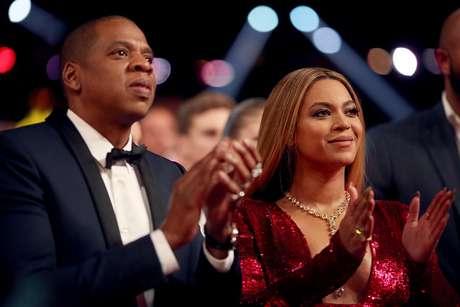 Jay Z e Beyoncé durante a cerimônia do Grammy, em 2017