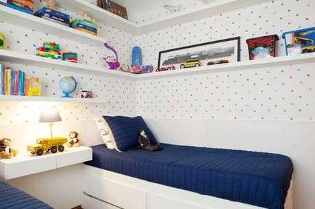 59- Prateleiras para quarto de crianças proporcionam mais conforto e praticidade. Fonte: Westwing