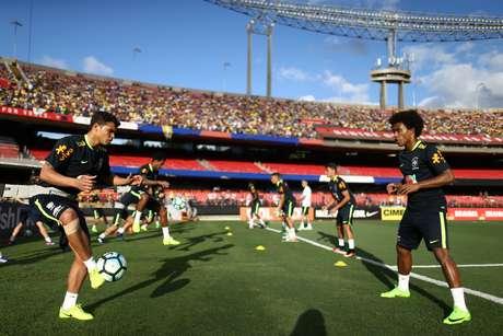 Seleção Brasileira teve treino aberto no Morumbi em 2017