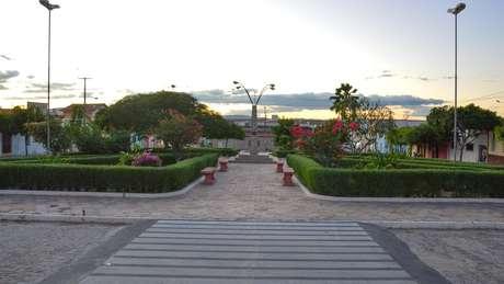 A praça João de Góes atualmente, local onde as plantas de maconha foram colocadas