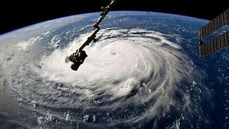 Furacão Florence visto da Estação Espacial Internacional